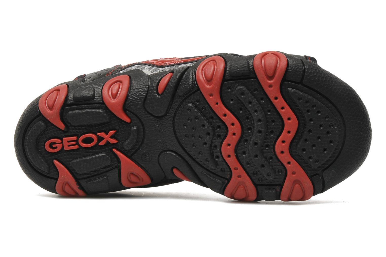 Sandalen Geox J S.STRIKE F schwarz ansicht von oben