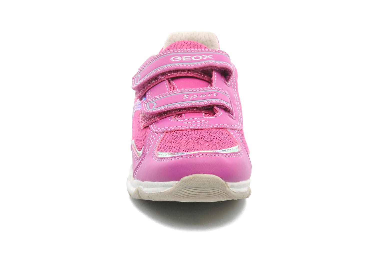 Baskets Geox J MAGICA B Rose vue portées chaussures