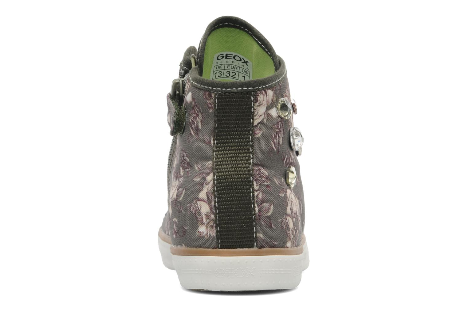 Trainers Geox J CIAK G. B Green view from the right