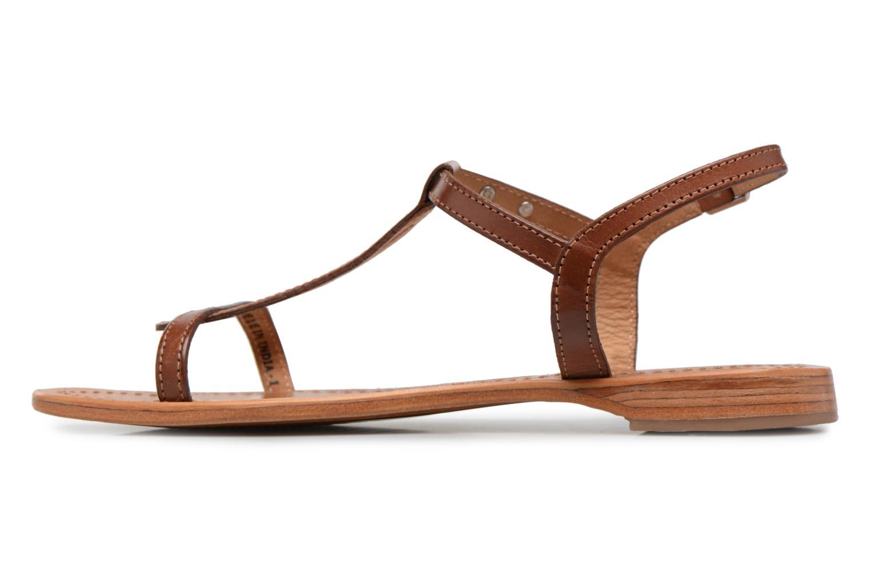 Sandals Les Tropéziennes par M Belarbi Hamess Brown front view