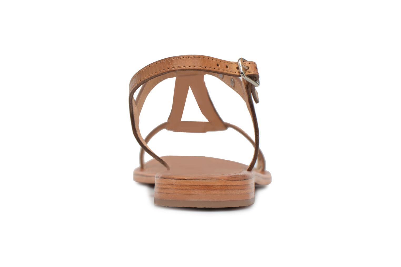 Sandales et nu-pieds Les Tropéziennes par M Belarbi Hamess Marron vue droite