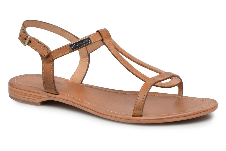 Sandales et nu-pieds Les Tropéziennes par M Belarbi Hamess Marron vue détail/paire