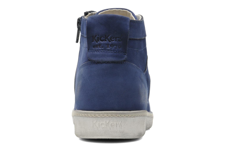 Sneakers Kickers Happier Blauw rechts