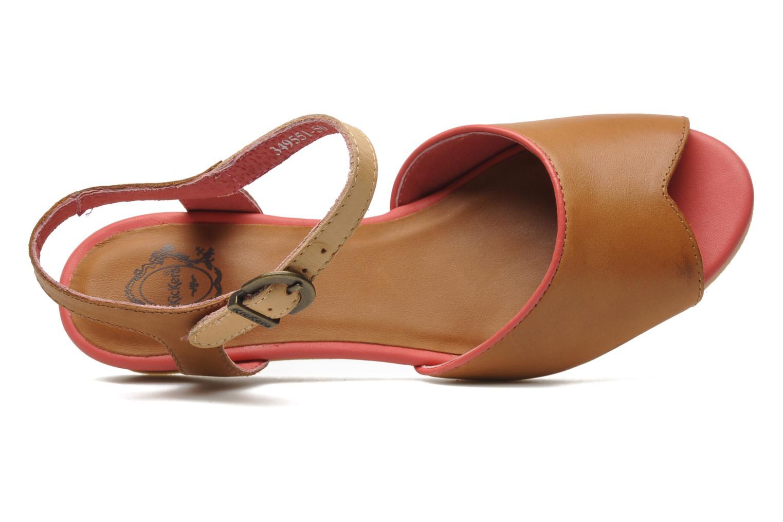 Sandalen Kickers Coco braun ansicht von links