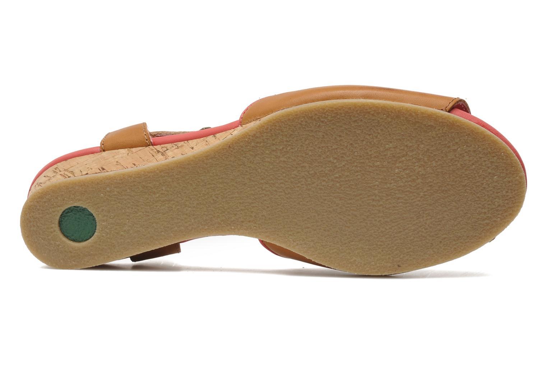 Sandalen Kickers Coco braun ansicht von oben