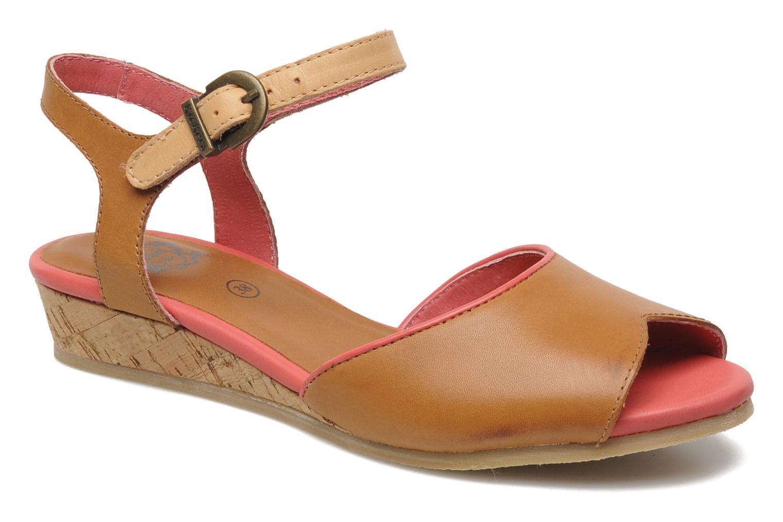 Sandales et nu-pieds Kickers Coco Marron vue détail/paire