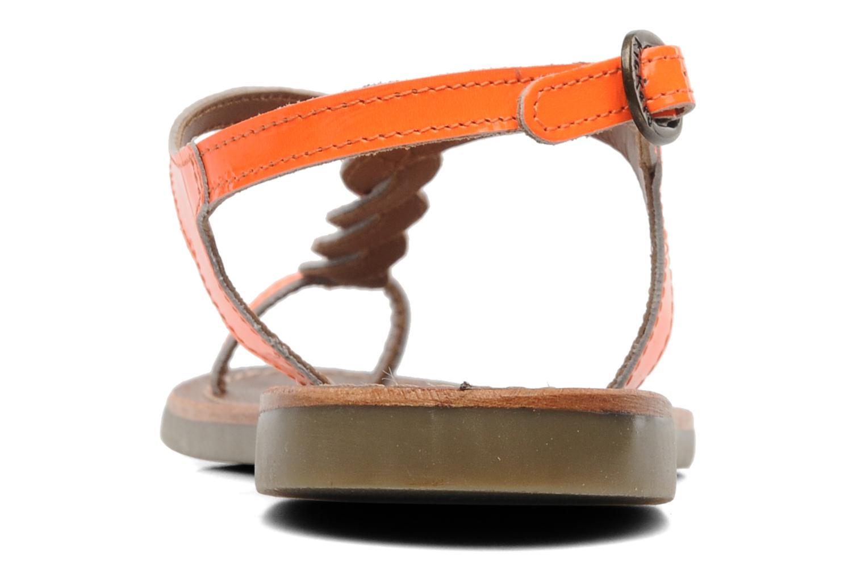 Sandales et nu-pieds Kickers Djinny Orange vue droite