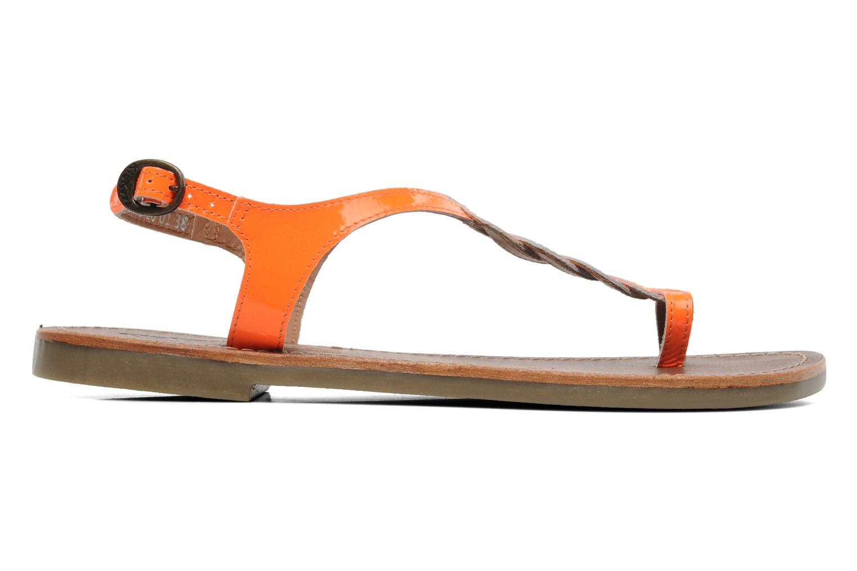 Sandales et nu-pieds Kickers Djinny Orange vue derrière
