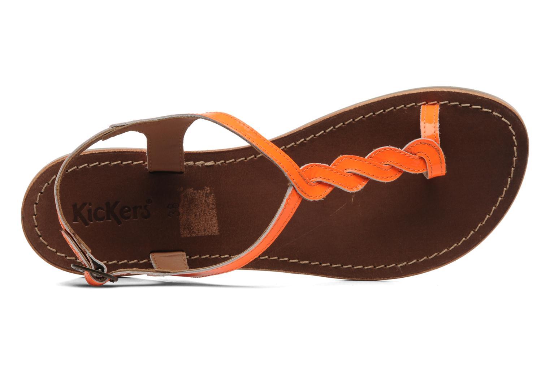 Sandales et nu-pieds Kickers Djinny Orange vue gauche