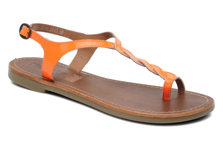 Sandales et nu-pieds Kickers Djinny Orange vue détail/paire