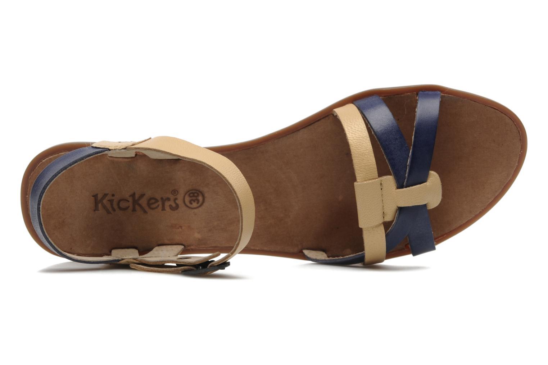 Sandalen Kickers Zephir Blauw links