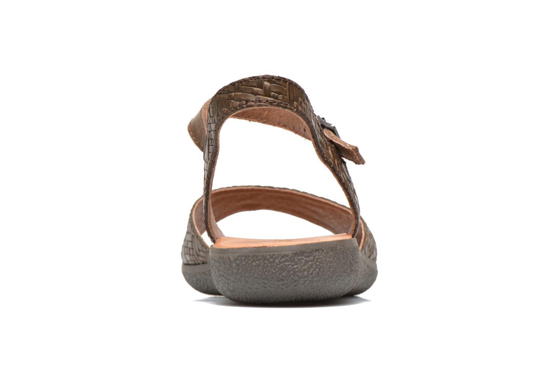 Sandales et nu-pieds Kickers Hypsy Marron vue droite