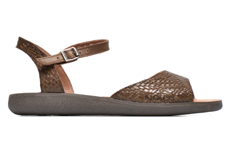 Sandales et nu-pieds Kickers Hypsy Marron vue derrière