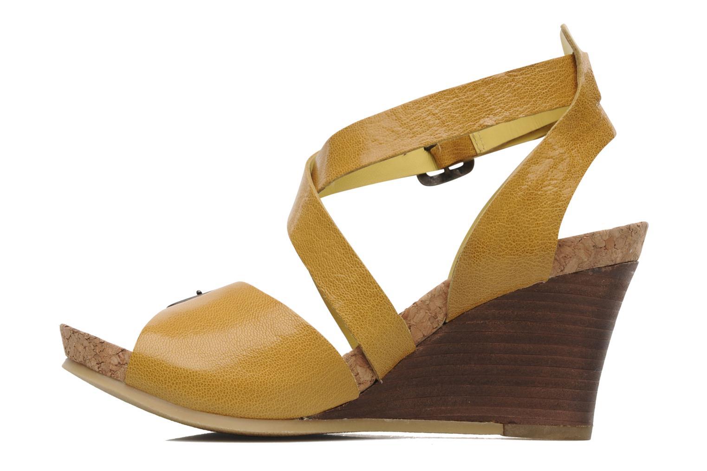 Sandalen Kickers Hava Geel voorkant