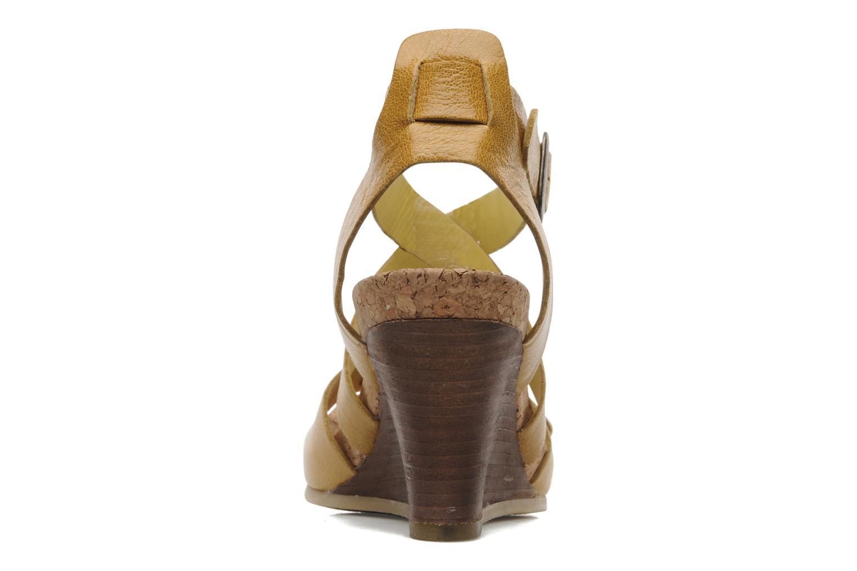 Sandalen Kickers Hava Geel rechts