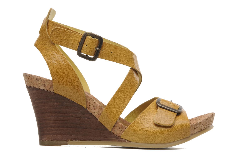 Sandalen Kickers Hava Geel achterkant