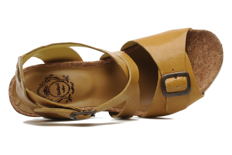 Sandalen Kickers Hava Geel links