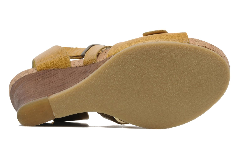 Sandalen Kickers Hava Geel boven