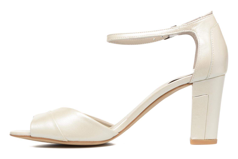 Sandaler Perlato Pone Hvid se forfra