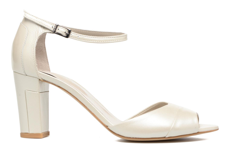 Sandales et nu-pieds Perlato Pone Blanc vue derrière