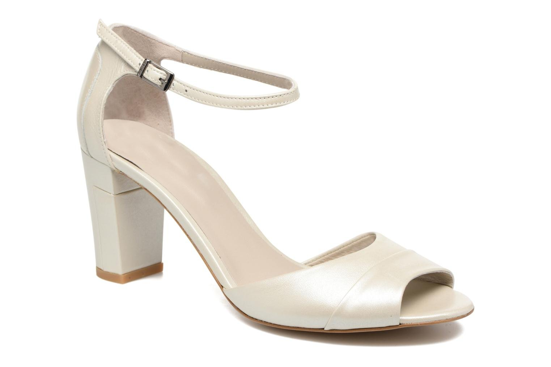 Sandales et nu-pieds Perlato Pone Blanc vue détail/paire