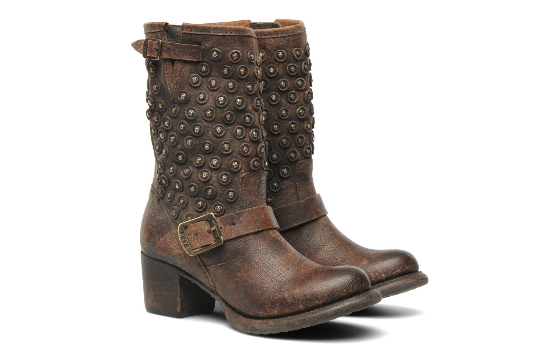 Bottines et boots Frye Vera Disc Short Marron vue 3/4