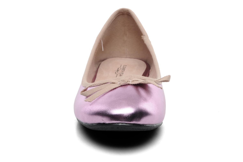 Ballerines Elizabeth Stuart Castel 812 Rose vue portées chaussures