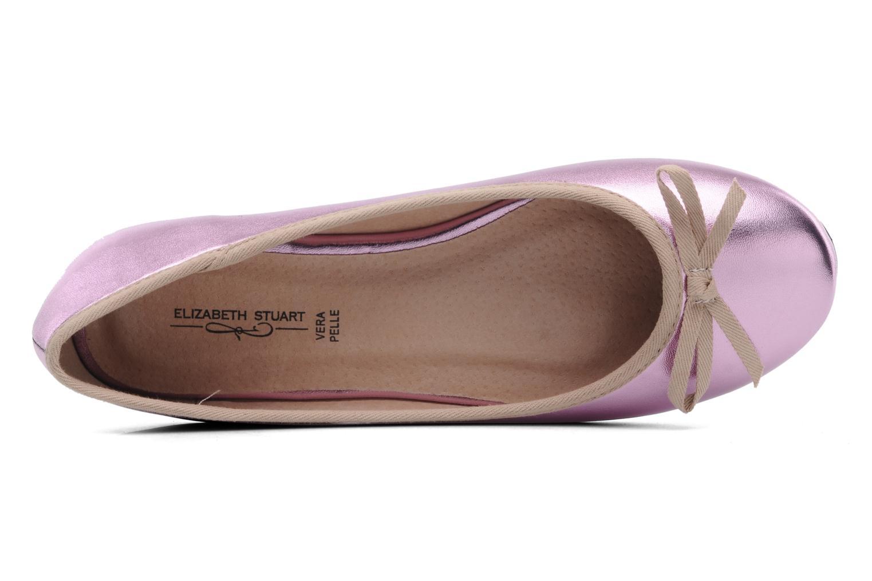 Ballerines Elizabeth Stuart Castel 812 Rose vue gauche
