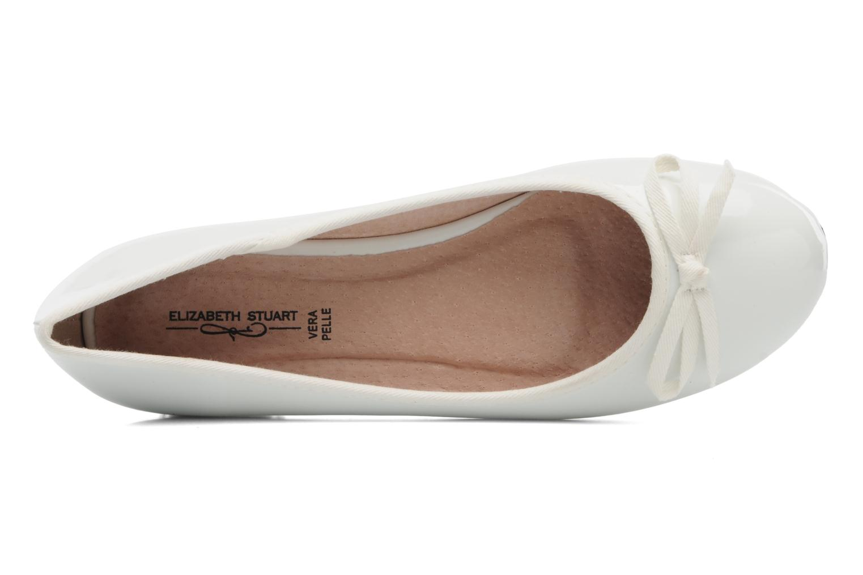 Ballerinas Elizabeth Stuart Castel 813 weiß ansicht von links