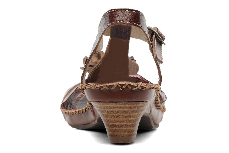 Sandales et nu-pieds Laura Vita Paradore Marron vue droite