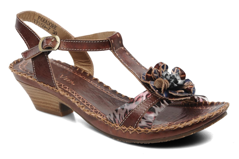 Sandales et nu-pieds Laura Vita Paradore Marron vue détail/paire