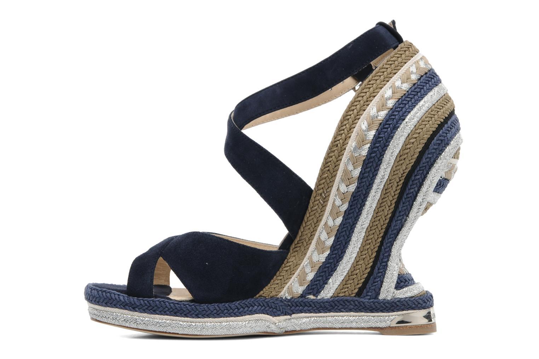 Sandalen Paloma Barcelo Mima blau ansicht von vorne
