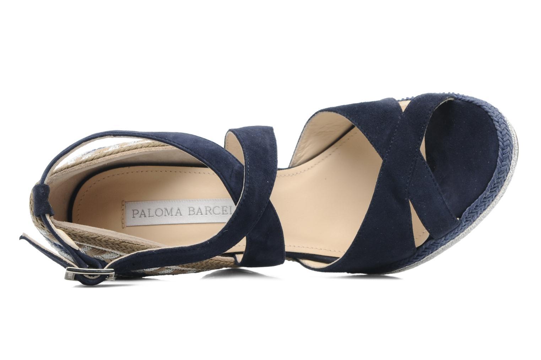 Sandalen Paloma Barcelo Mima blau ansicht von links