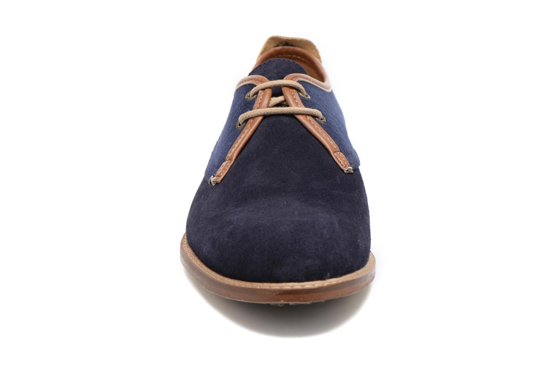 Chaussures à lacets M. Moustache Léon Suede Bleu vue portées chaussures