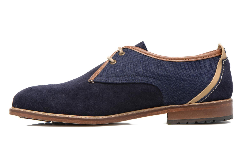 Chaussures à lacets M. Moustache Léon Suede Bleu vue face