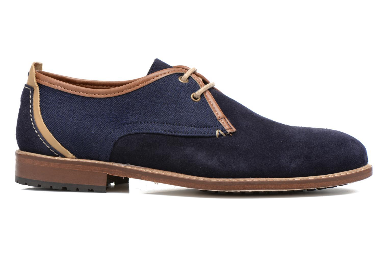 Chaussures à lacets M. Moustache Léon Suede Bleu vue derrière