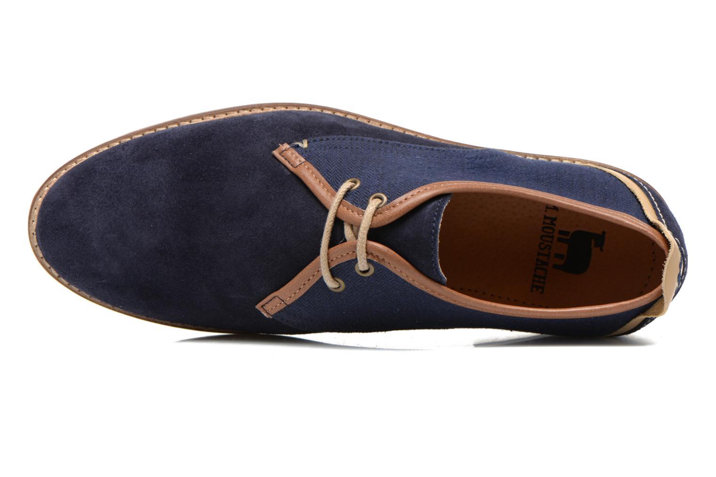 Chaussures à lacets M. Moustache Léon Suede Bleu vue gauche