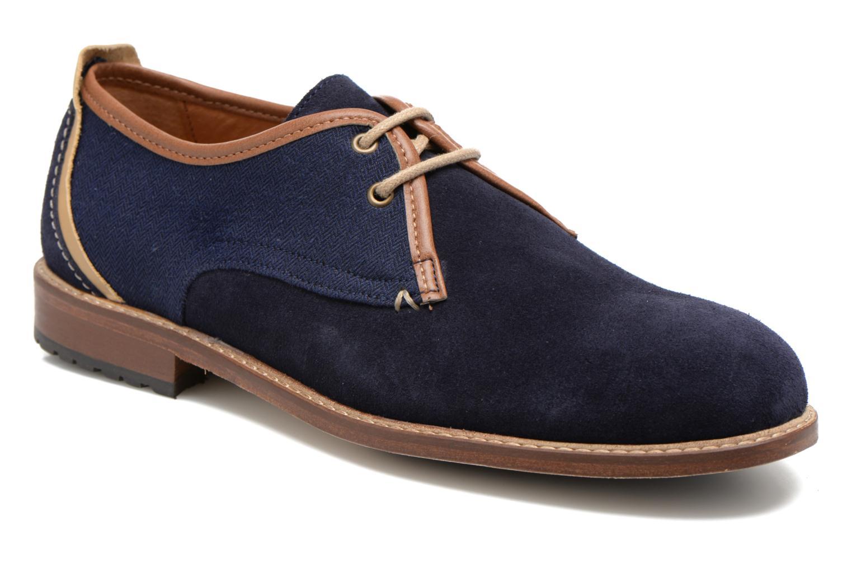 Chaussures à lacets M. Moustache Léon Suede Bleu vue détail/paire