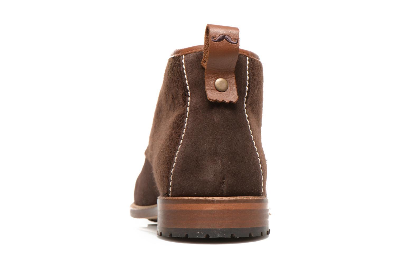 Chaussures à lacets M. Moustache Fernand Marron vue droite