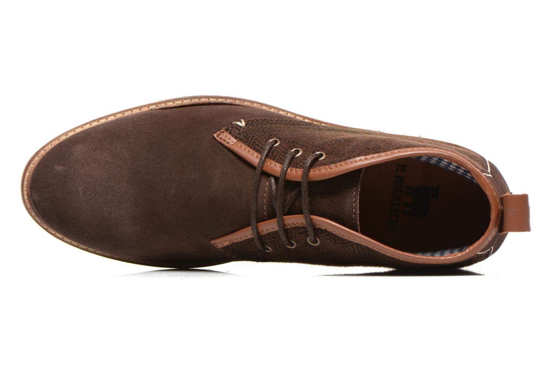 Chaussures à lacets M. Moustache Fernand Marron vue gauche