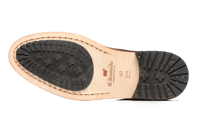 Chaussures à lacets M. Moustache Fernand Marron vue haut