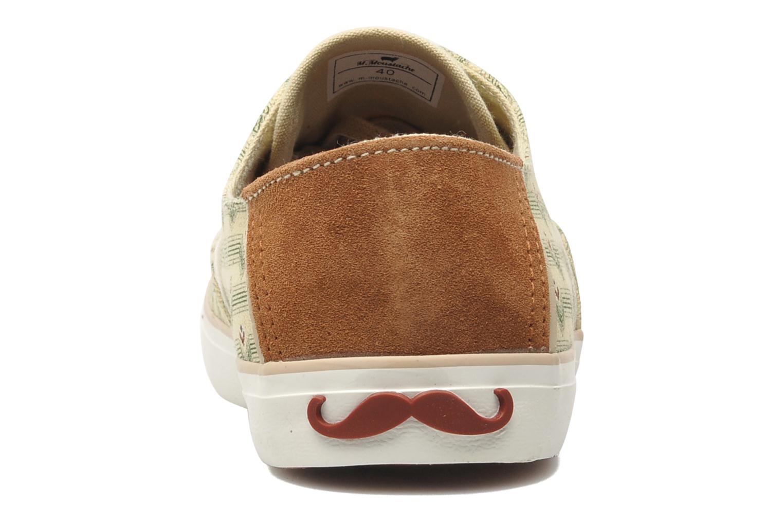 Baskets M. Moustache Robert Canvas Beige vue droite