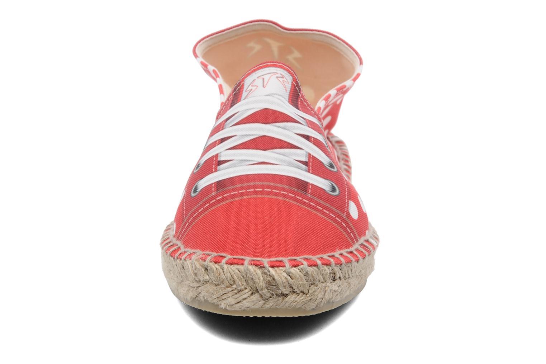Espadrilles String Republic Lisa W Rouge vue portées chaussures