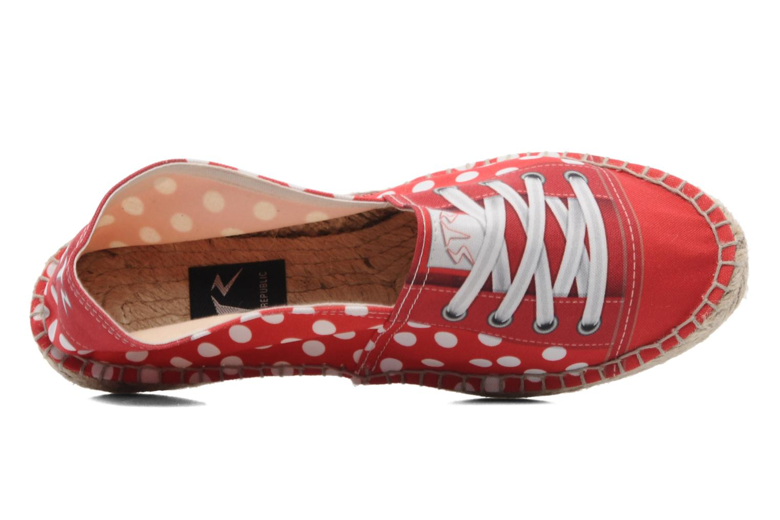 Espadrilles String Republic Lisa W Red view from the left