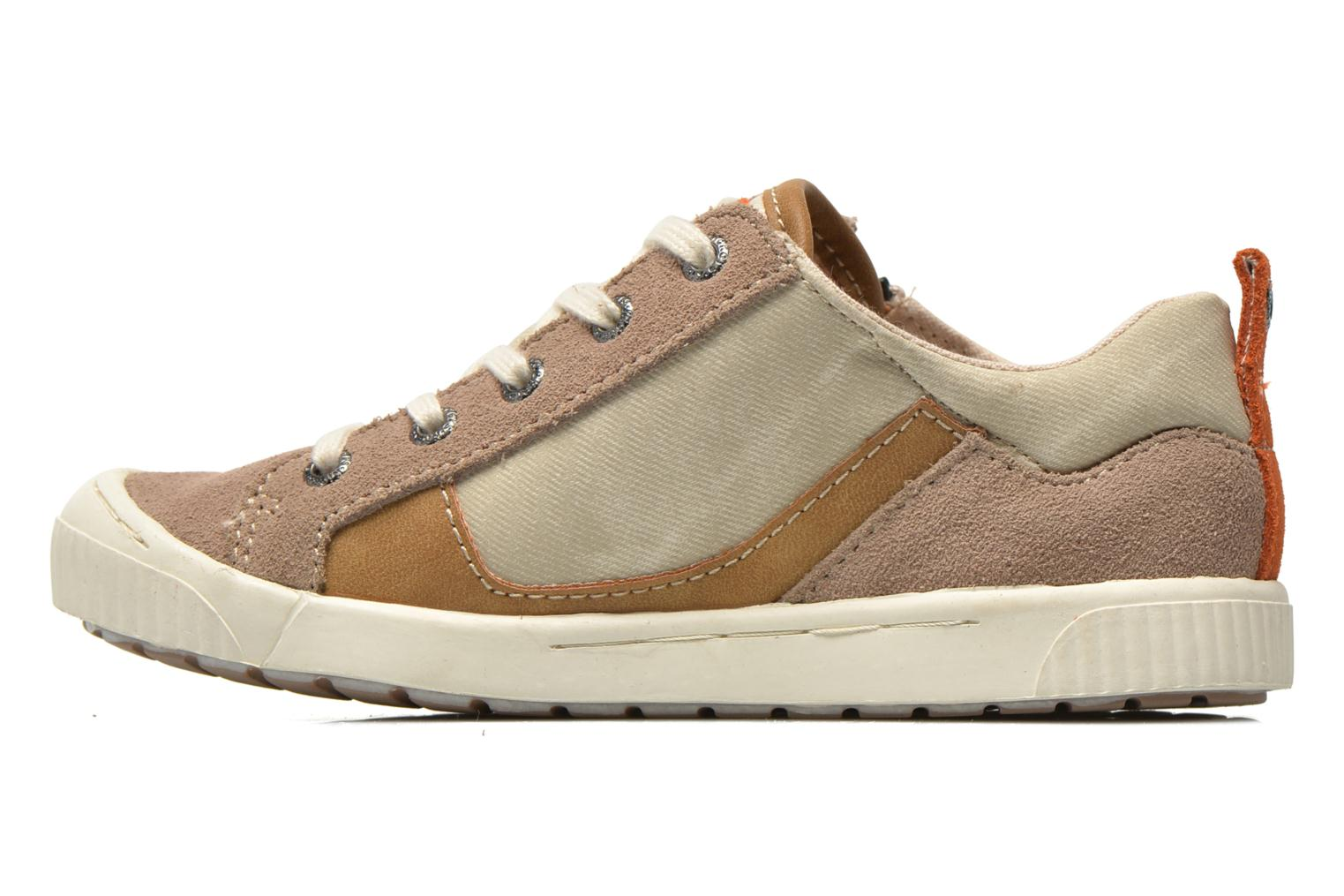 Baskets Kickers Zigzaguer Beige vue face