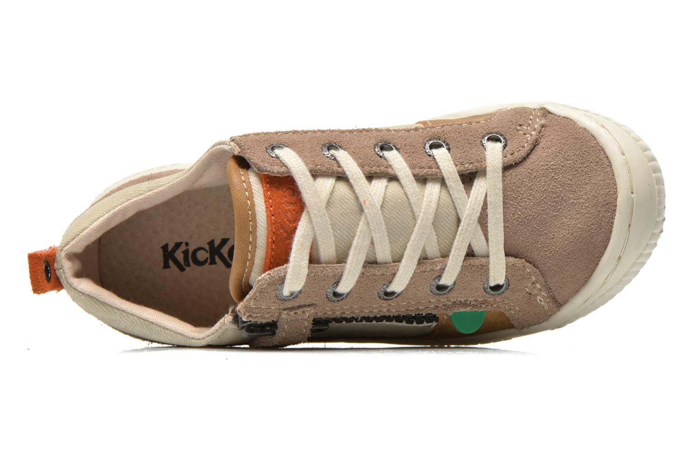 Sneaker Kickers Zigzaguer beige ansicht von links