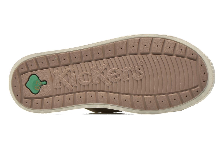 Sneaker Kickers Zigzaguer beige ansicht von oben
