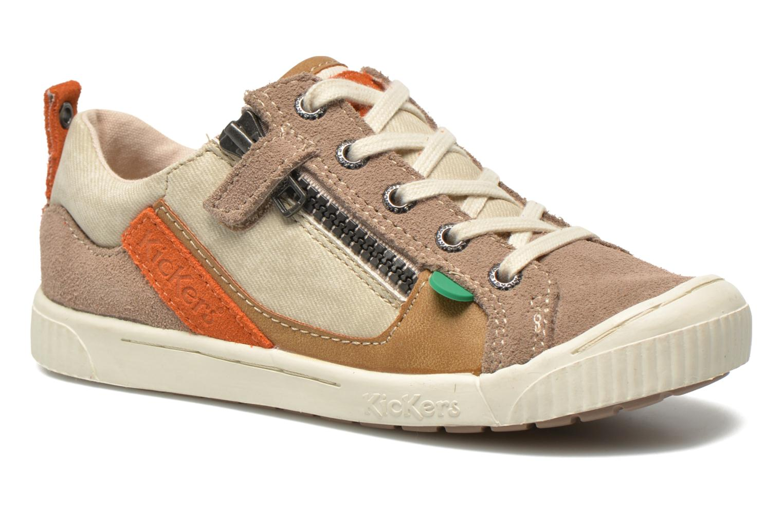 Sneaker Kickers Zigzaguer beige detaillierte ansicht/modell