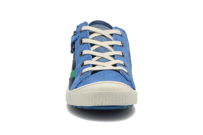 Baskets Kickers Zigzaguer Bleu vue portées chaussures