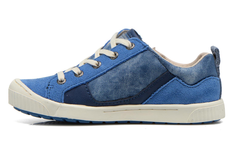 Baskets Kickers Zigzaguer Bleu vue face